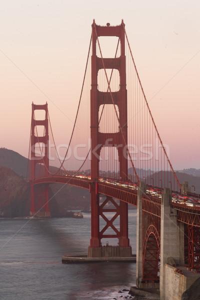 Golden Gate Köprüsü kale nokta San Francisco Kaliforniya akşam karanlığı Stok fotoğraf © cboswell