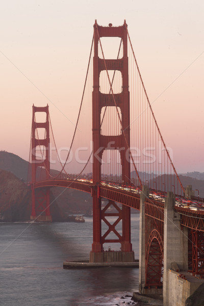 Golden Gate Bridge forte ponto San Francisco Califórnia crepúsculo Foto stock © cboswell