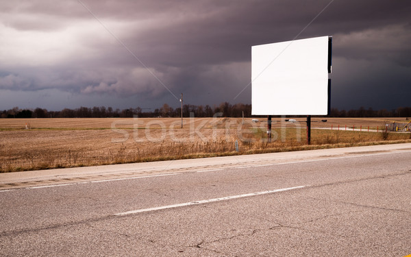 белый Billboard реклама знак фермы области Сток-фото © cboswell