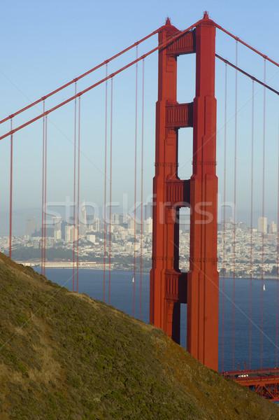 Golden Gate Bridge San Francisco ponte azul viajar edifícios Foto stock © cboswell