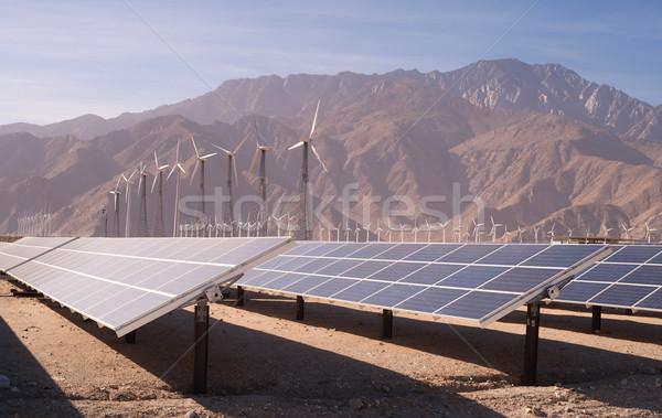 Temizlemek yeşil enerji çöl güneş enerjisi büyük Stok fotoğraf © cboswell