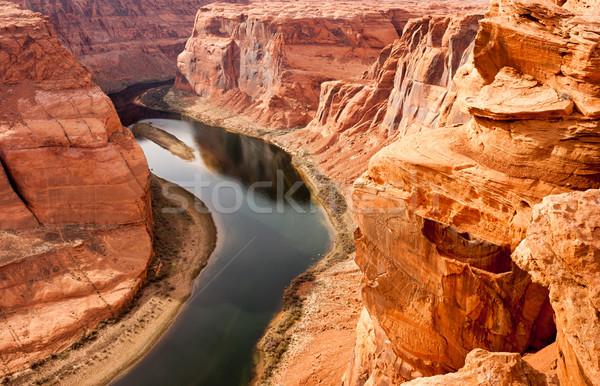 Diep canyon Colorado rivier woestijn zuidwest Stockfoto © cboswell