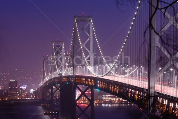 Híd csúcsforgalom forgalom San Francisco közlekedés autó Stock fotó © cboswell