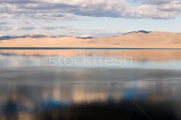 Tó nagyszerű western ásvány USA égbolt Stock fotó © cboswell