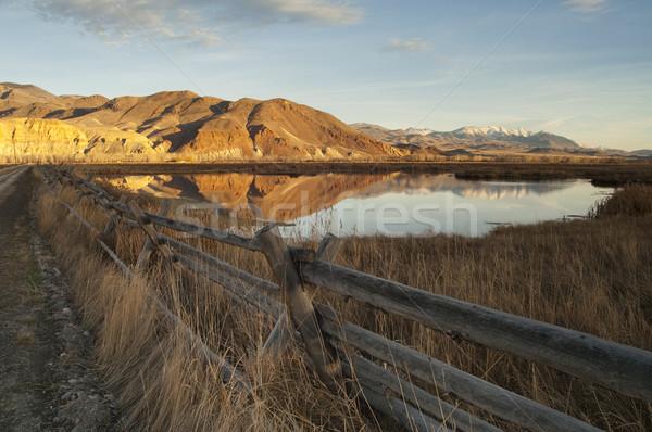 Belo paisagem ocidental Estados Unidos Idaho rancho Foto stock © cboswell
