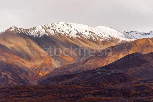 ősz szín hó csúcs Alaszka terjedelem Stock fotó © cboswell