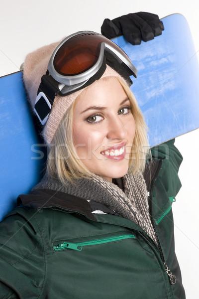 Aktywny kobieta piękna uśmiech szczęśliwy Zdjęcia stock © cboswell