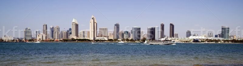 Beautiful Sunny Day San Diego California Panoramic Downtown City Stock photo © cboswell