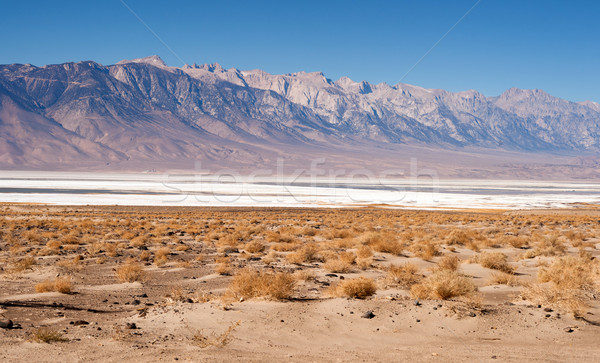 Muah Mountain Cirque Peak Sharknose Ridge Owens Lake California  Stock photo © cboswell