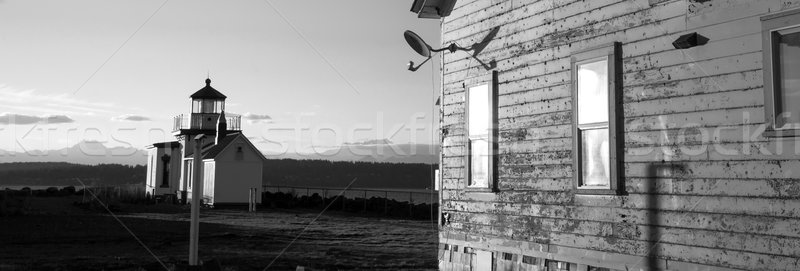 Keepers Quarters Stands Weathered Near Cape Mountain Lighthouse Stock photo © cboswell
