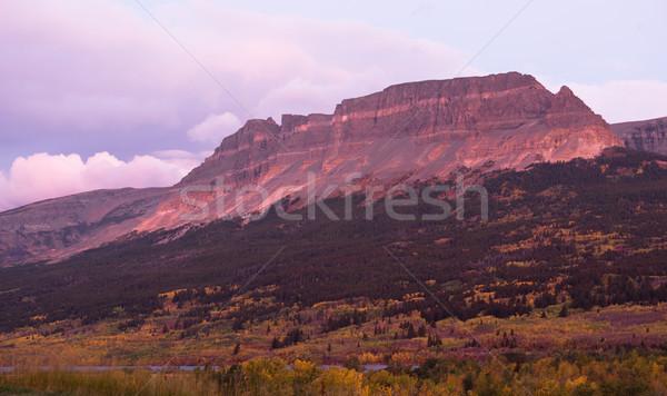 Sunrise Flat Top Mountain St Mary Montana Glacier National Park Stock photo © cboswell