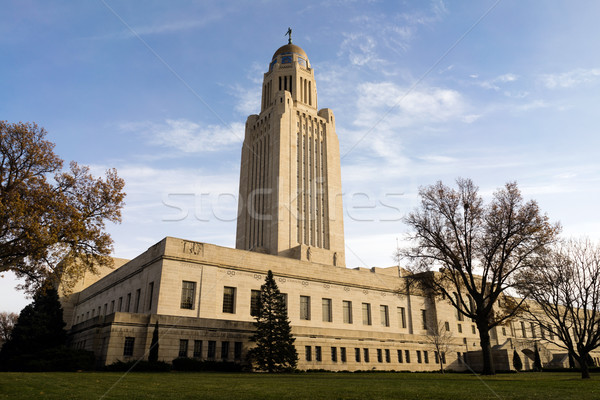 Lincoln Nebraska Capital Building Government Dome Architecture Stock photo © cboswell