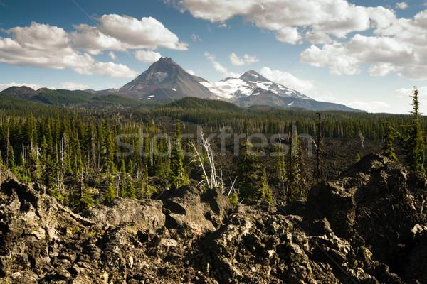 合格 3  姉妹 カスケード 山 ストックフォト © cboswell