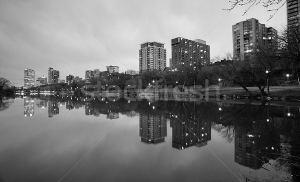 Office Buildings Apartments Condos Lake Park Milwaukee Wisconsin Stock photo © cboswell
