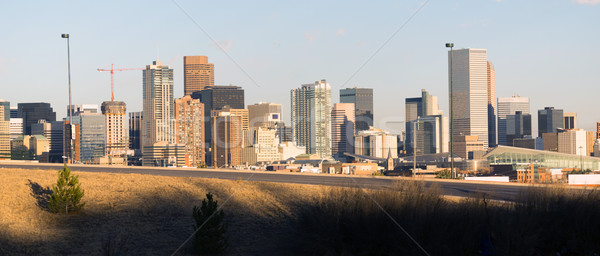 Groß Stadt Innenstadt Skyline Ansicht hinter Stock foto © cboswell