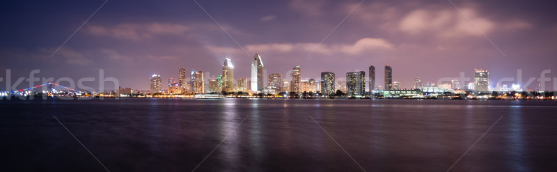 Late Night Coronado San Diego Bay Downtown City Skyline Stock photo © cboswell