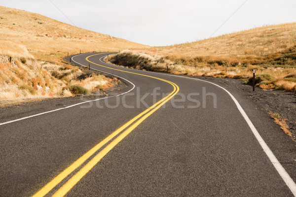 Open Road Two Lane Highway USA Transportation North America Stock photo © cboswell