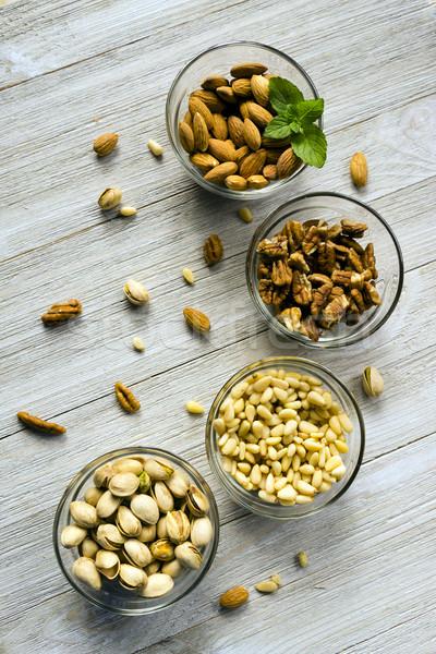 Moer geheel pine noten Stockfoto © cboswell