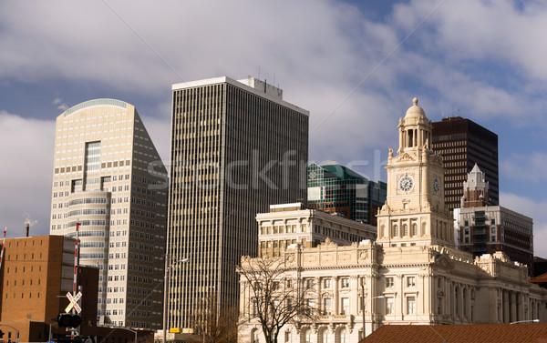 зданий архитектура центра Солнечный зима Сток-фото © cboswell