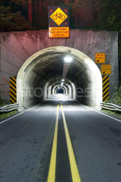 トンネル 道路 101 オレゴン州 道路 にログイン ストックフォト © cboswell