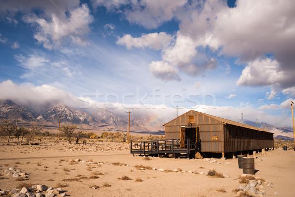 Barracks Building Manzanar National Historic Site California Sie Stock photo © cboswell