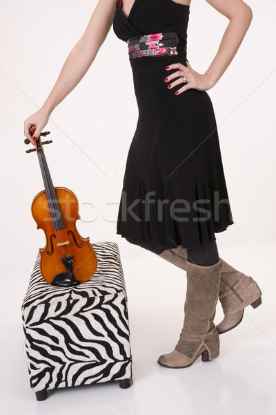 Violin on Ottoman Stock photo © cboswell