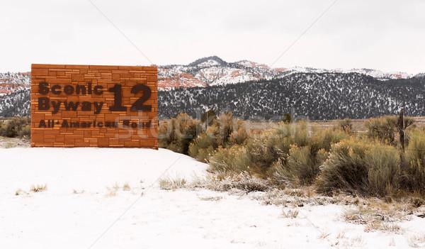 Escénico 12 todo americano carretera Utah Foto stock © cboswell