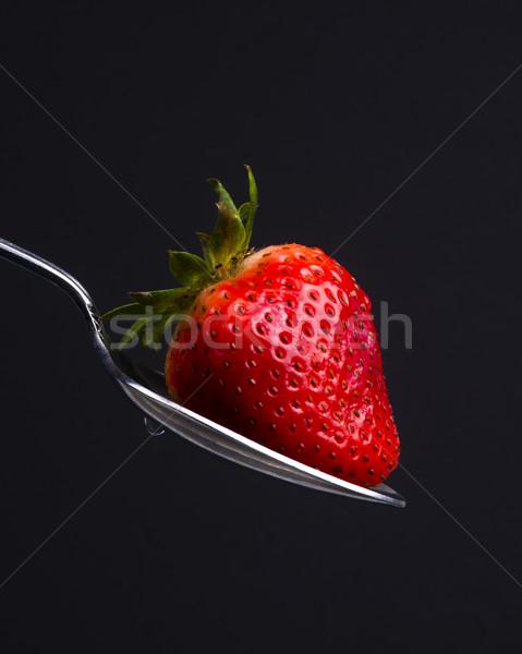 Sweet красный продовольствие фрукты сырой клубника Сток-фото © cboswell