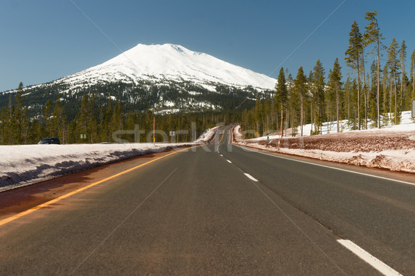 Road to Mt. Bachelor Ski Resort Cascade Range  Stock photo © cboswell
