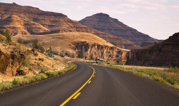 Deux autoroute jour fossile Photo stock © cboswell