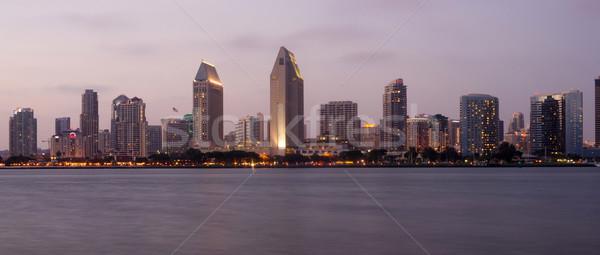San Diego céu linha do horizonte água cidade mar Foto stock © cboswell