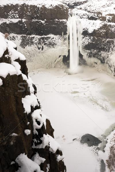 Palouse River Falls Frozen Water Wilderness Waterfall Winter Fre Stock photo © cboswell