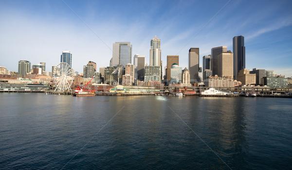 Stockfoto: Dok · gebouwen · boten · Seattle