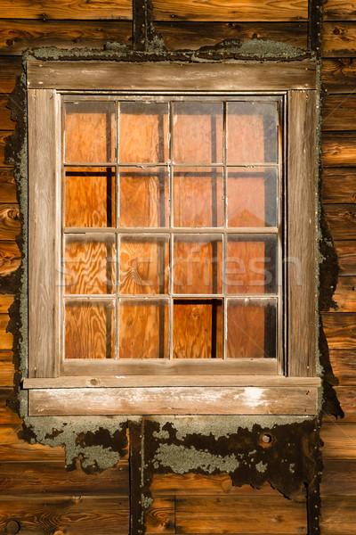 Fut lefelé rom felfelé ház furnérlemez Stock fotó © cboswell