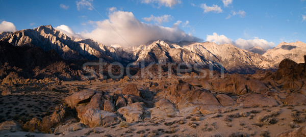 Alpine Sunrise Alabama Hills Sierra Nevada Range California Stock photo © cboswell