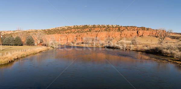 Río rural país Wyoming alto carretera Foto stock © cboswell