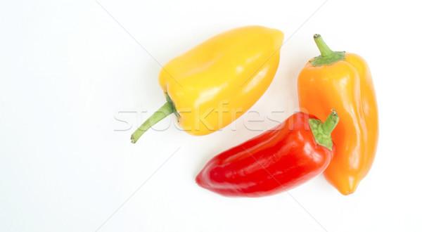 Klein zoete Rood Geel oranje paprika Stockfoto © cboswell