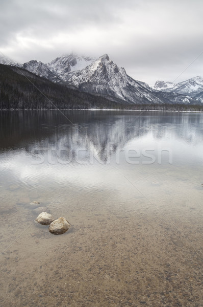 Lake Stanley Idaho Sawtooth Mountain Range Northern Rockies Outd Stock photo © cboswell