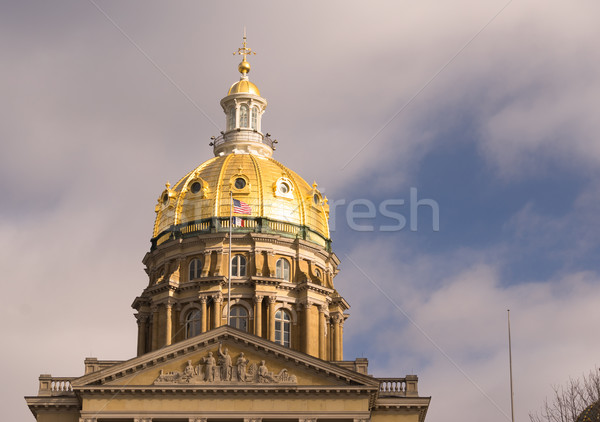 Des Moines Iowa Capital Building Government Dome Architecture Stock photo © cboswell