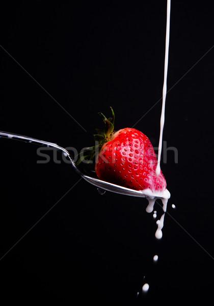 Strawberry Milk Splash Stock photo © cboswell