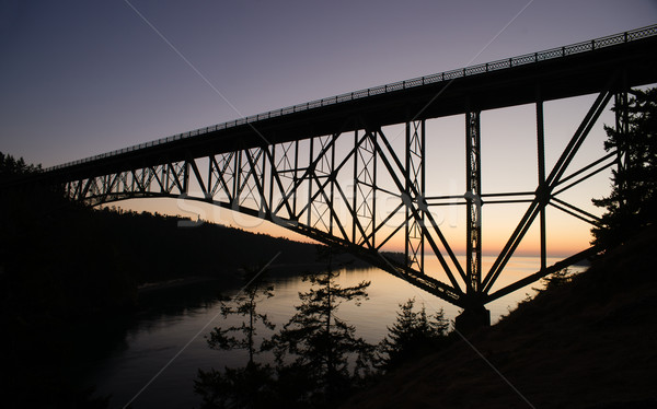Puget Sound Deception Pass Fidalgo Whidbey Islands Stock photo © cboswell