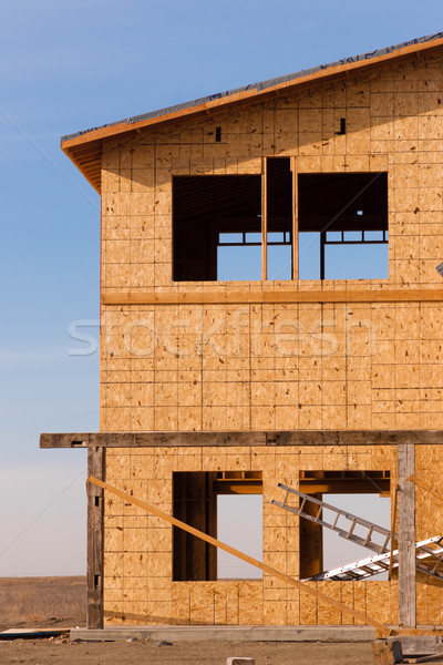 New Construction Houses Going Up Fast North Dakota Oil Boom Stock photo © cboswell