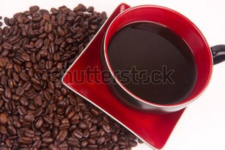 ágata java café café sessão feijões Foto stock © cboswell