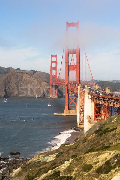 Золотые Ворота форт точки Сан-Франциско Калифорния пляж Сток-фото © cboswell