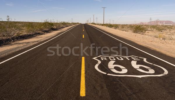 Landelijk route 66 twee historisch snelweg Stockfoto © cboswell
