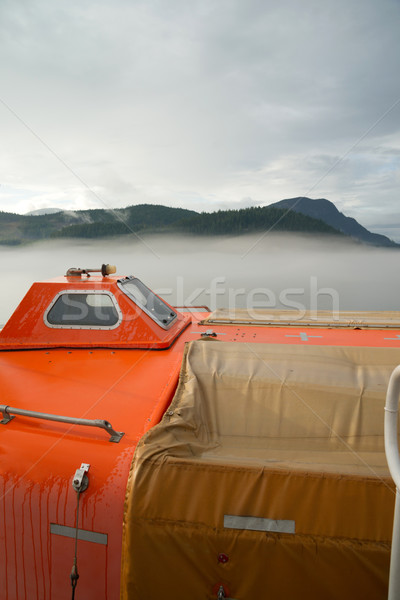 Rescue Boat Survival Pod Ship Transportation Safety Vessel Stock photo © cboswell