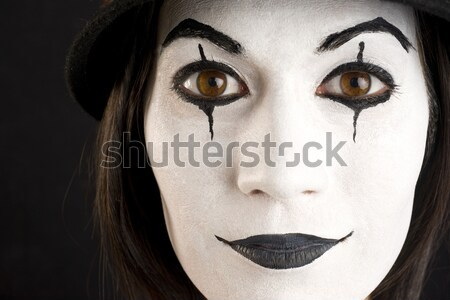 Clown visage belle femme heureux beauté Photo stock © cboswell