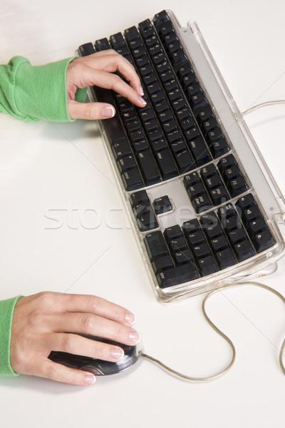 手 キーボード マウス 白 腕 入力 ストックフォト © cboswell