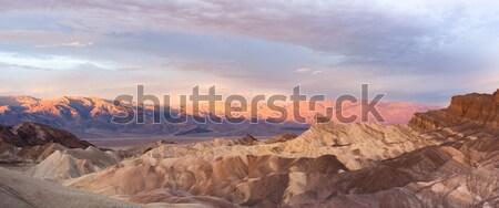 Gündoğumu dağ ölüm vadi bulut Stok fotoğraf © cboswell