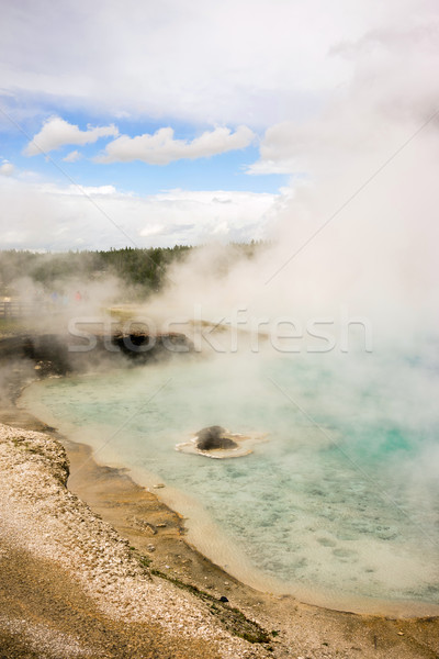 Minéral piscine printemps parc vertical gaz Photo stock © cboswell